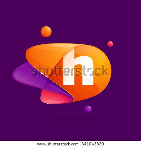H letter with atoms orbits colorful icon. Abstract science multicolored vector design template elements for your application or corporate identity. Foto stock ©