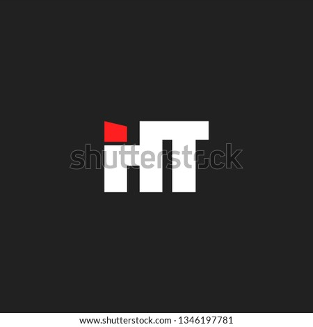 H & T letters Joint logo icon vector template for corporate logo and business card. Stock fotó ©