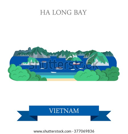 ha long bay in vietnam flat