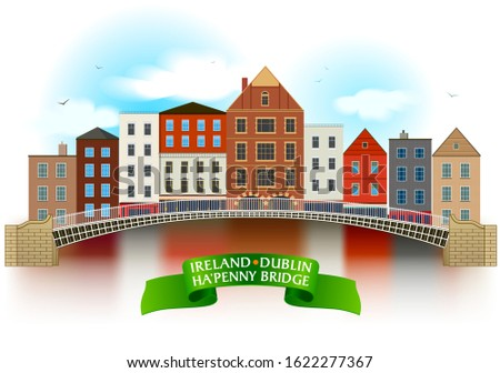 ha'penny bridge hand drawn