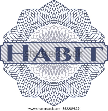 Habit abstract linear rosette