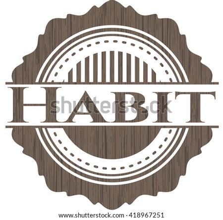 Habit wooden signboards