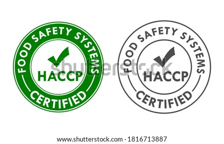 HACCP - Hazard Analysis and Critical Control Points concept background