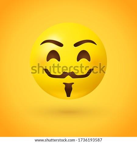 hacker mask style emoji face