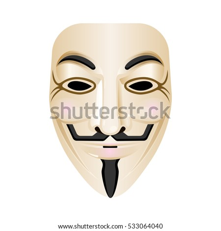 hacker mask vector icon