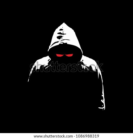 hacker mysterious silhouette