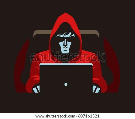 hacker stalker using a computer