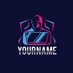 Hacker Template logo design colorful