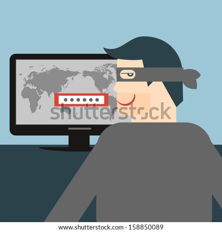 Hacker. Vectorial illustration.