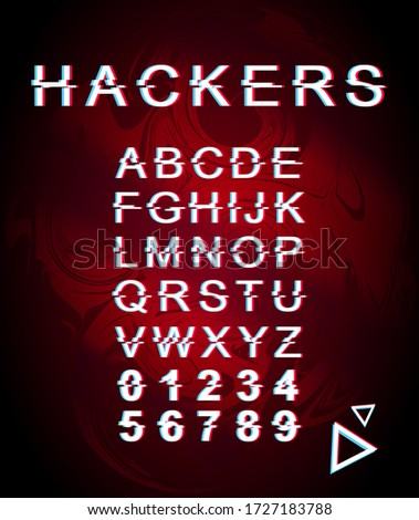 hackers glitch font template