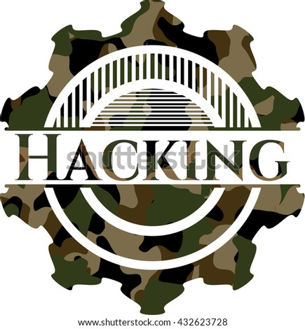 hacking on camo pattern