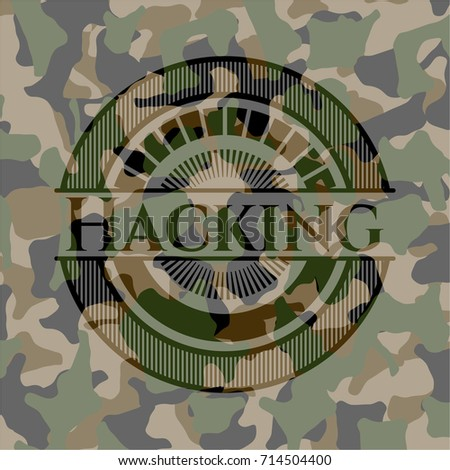 hacking on camouflage texture