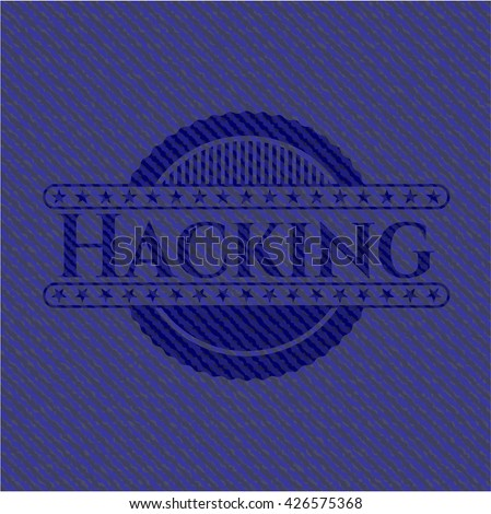 Hacking with denim texture