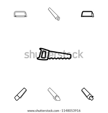 Hacksaw icon. collection of 7 hacksaw outline icons such as . editable hacksaw icons for web and mobile.