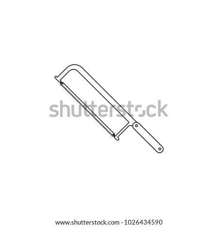 hacksaw icon. Element of construction tools for mobile concept and web apps. Thin line icon for website design and development, app development. Premium icon on white background