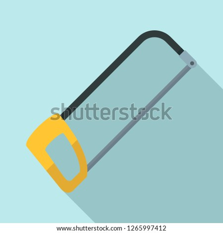 Hacksaw icon. Flat illustration of hacksaw vector icon for web design