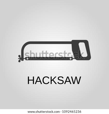 Hacksaw icon. Hacksaw symbol. Flat design. Stock - Vector illustration