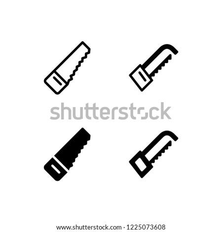 Hacksaw Icon Logo Vector Symbol. Saw Icon