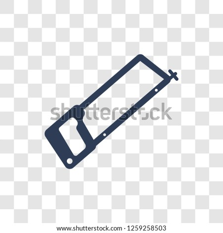 Hacksaw icon. Trendy Hacksaw logo concept on transparent background from Construction collection