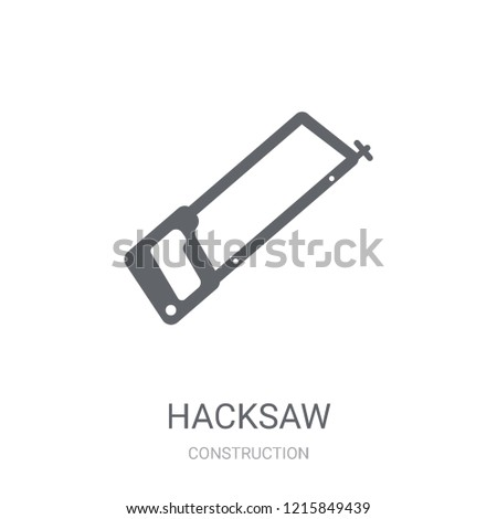 Hacksaw icon. Trendy Hacksaw logo concept on white background from Construction collection. Suitable for use on web apps, mobile apps and print media.