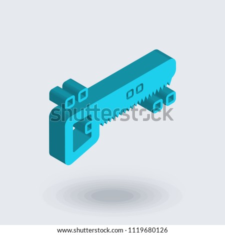 Hacksaw icon vector isolated on white background for your web and mobile app design, Hacksaw logo concept , isometric 3D icon