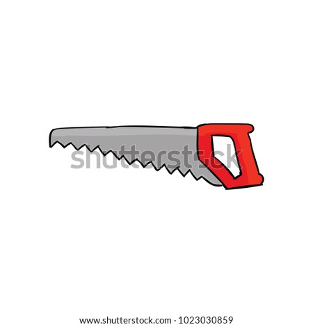Hacksaw  isolated on a white background. Vector illustration.