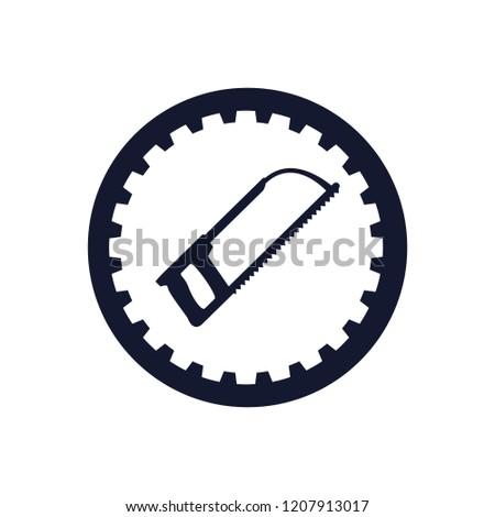 hacksaw tool stamp icon