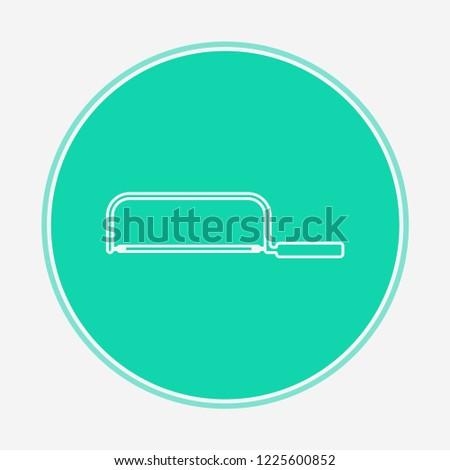 Hacksaw vector icon sign symbol