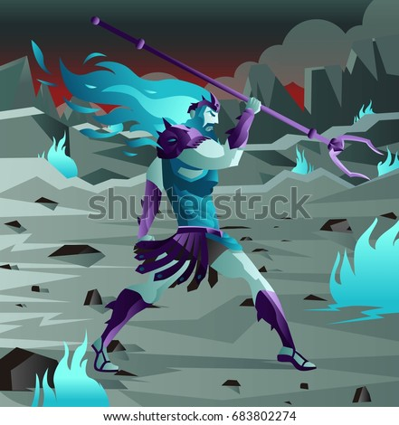 Stock Photo hades pluto god of the dead in hell from greek roman mythology