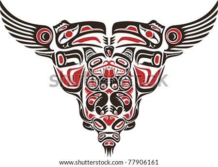 haida style tattoo design