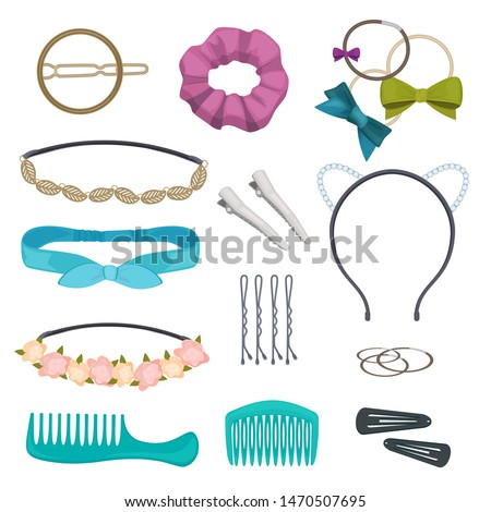 hair accessories woman stylish