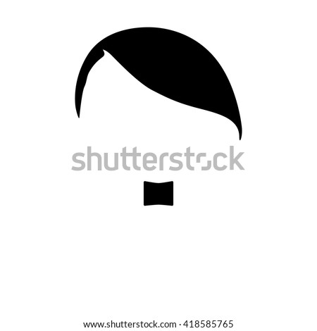 hair and mustache vector