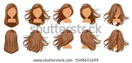 hair blown women set wide view