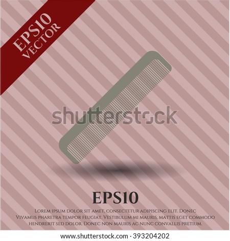 Hair Comb vector symbol