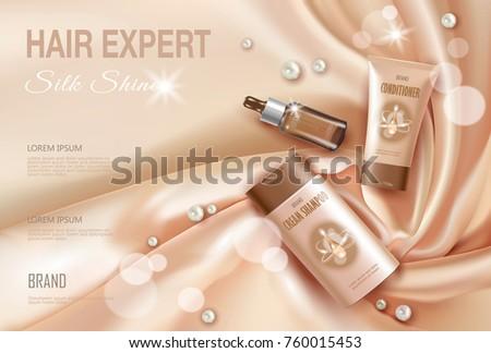 hair cosmetic ad shampoo
