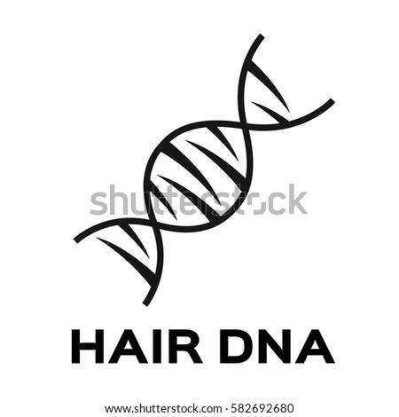hair dna icon and vector