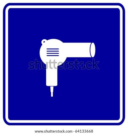 Japanese Hair Dryer >> Hair Dryer Sign Stock Vector Illustration 64133668 : Shutterstock