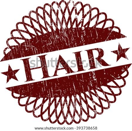 Hair grunge style stamp