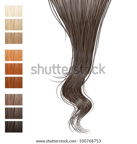 hair lock and different hair colors