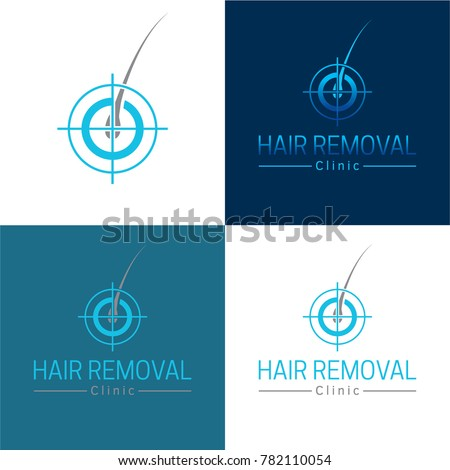 Hair Removal Logo and Icon - Vector Illustration