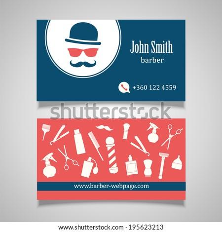 Hair salon barber Business Card design template