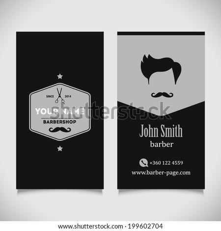 Hair salon barber shop Business Card design template