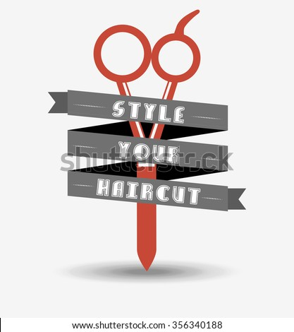 hair salon  design, vector illustration eps10 graphic