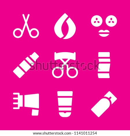 hair salon, hair salon, hair salon and hygienic icons set. Vector graphic design for web and application
