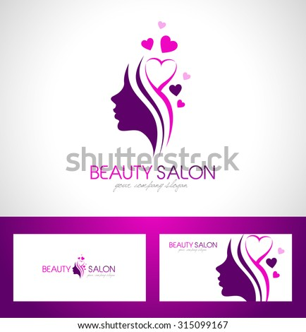 Hair Salon LogoBeauty Female Face Logo DesignCosmetic Design Creative