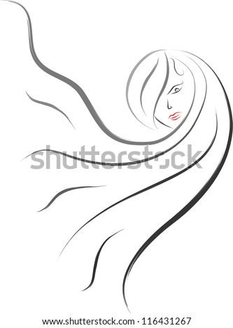 hair salon symbol woman