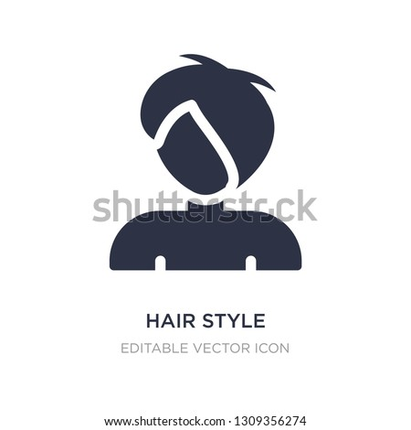 hair style icon on white background. Simple element illustration from Nature concept. hair style icon symbol design.