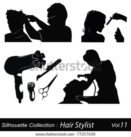 Hair style saloon - stock vector