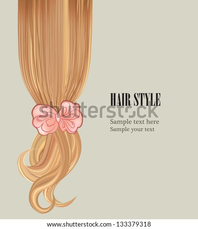 Hair colorful backgrou...