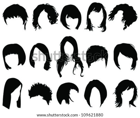 Hair Vector Styles Download Free Vector Art Stock Graphics Images - Girl hairstyle vector free download